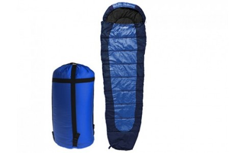 Sac de Dormit Summit, Mummy Sleeping Bag Double Layer , Albastru Inchis