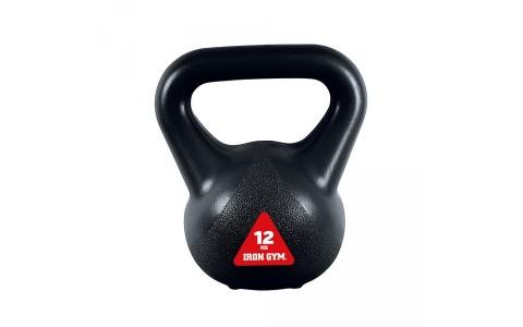 Kettlebell IG-KBV12, Iron Gym 12 kg, Negru