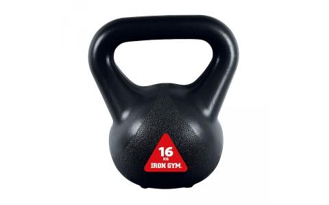 Kettlebell IG-KBV16, Iron Gym 16 kg, Negru