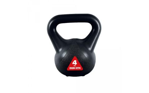 Kettlebell IG-KBV4, Iron Gym 4 kg, Negru