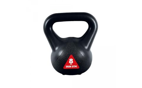 Kettlebell IG-KBV8, Iron Gym 8 kg, Negru