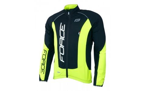 Jacheta Ciclism, Force, X68 Pro, Maneci Lungi, Negru-Fluorescent, S