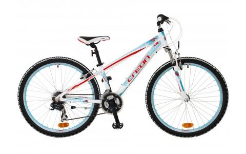 "Bicicleta fete Creon Speedster, 26"", alb-albastru-rosu"