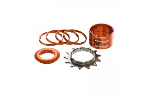 Kit single speed Reverse 13T orange
