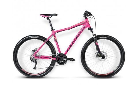 Bicicleta MTB Dama, Kross, Lea R4, 27.5inch, 2017, XS, Fuchsia-Negru