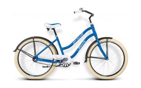 Bicicleta Cruiser, Dama, Kross, Salt, 26x2.35 inch, 1 viteza, Albastru-Alb