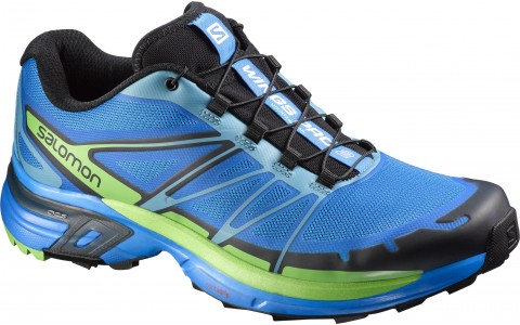 Pantofi Alergare Montana,Inspiratie S-Lab Salomon, Albastru-Verde