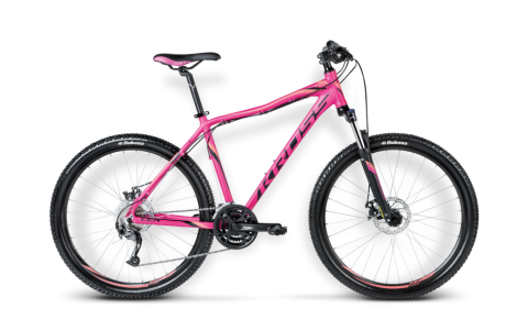 Bicicleta MTB Dama, Kross, Lea R4, 27.5x2.1 inch, 2016, 24 viteze, Roz-Negru-Portocaliu