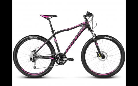 Bicicleta MTB Dama, Kross, Lea R6, 27.5, 2017, XS, Negru-Roz-Gri