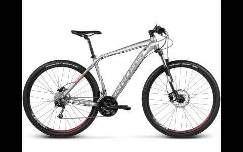 Bicicleta MTB Kross Level B4, L, 2017, gri-alb-rosu