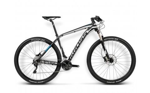 Bicicleta MTB, Kross, Level B6, 29x2.1 inch, 2016, 30 viteze, Negru-Albastru-Argintiu
