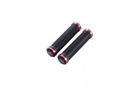Mansoane Reverse Spin Lock-On negru/rosu 30mm