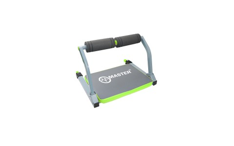 Aparat pentru abdomene, GymBit Wonder Core Smart, Master Sport, 55x52x38cm, Negru-Gri