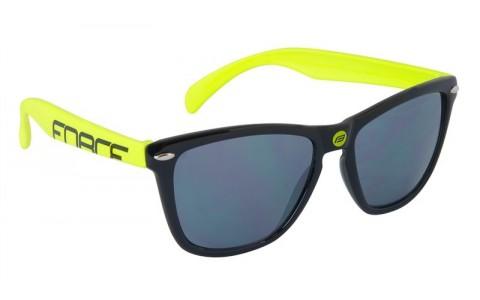 Ochelari Ciclism, Force, Free, Negru-Fluorescent, Lentile Negre Laser