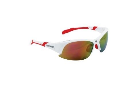 Ochelari Ciclism, Force, Ultra, Alb, Lentila Rosie, Protectie UV