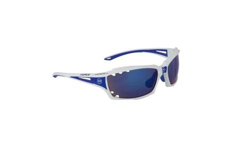 Ochelari Ciclism, Force, Vision, Alb, Lentila Albastra, Protectie UV