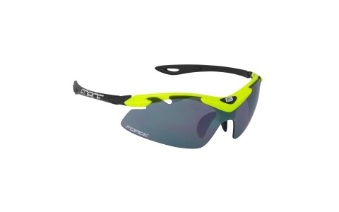 Ochelari sport de ciclism, Force, Duke, Negru-Galben, Lentile UV