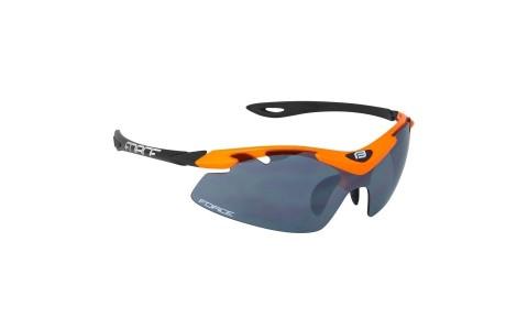 Ochelari Sport de ciclism, Force, Duke, Negru-Portocaliu, Protectie UV