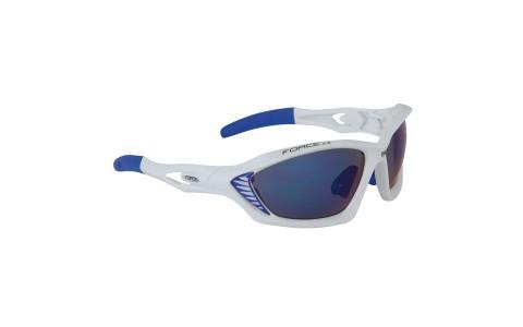 Ochelari Ciclism, Force, Max, Alb-Albastru, Protectie UV