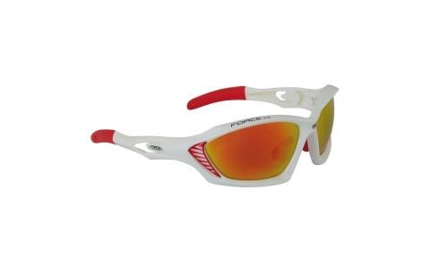 Ochelari Ciclism, Force, Max, Alb-Rosu, Protectie UV