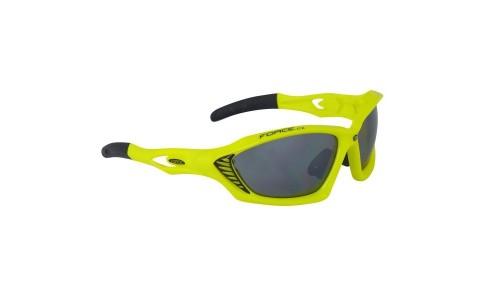 Ochelari Ciclism, Force, Max, Galben Fluorescent, Protectie UV