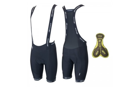 Pantaloni scurti cu bazon si bretele Force B45 negri XL