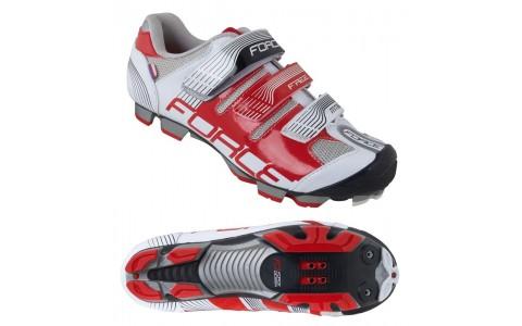 Pantofi Force Free MTB alb/rosu 44