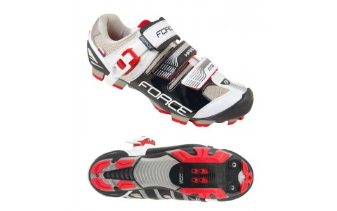 Pantofi MTB Hard, Force, Negru-Alb