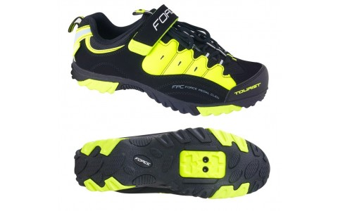 Pantofi Sport, Force, Tourist, Negru-Galben, Marimea 45