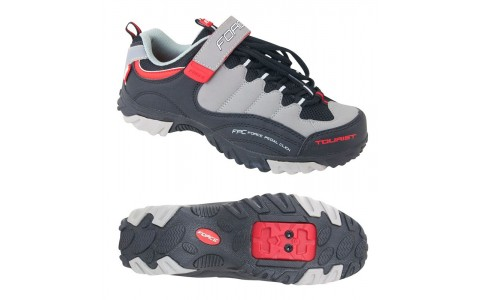 Pantofi Tourist Force negru/gri/rosu 38