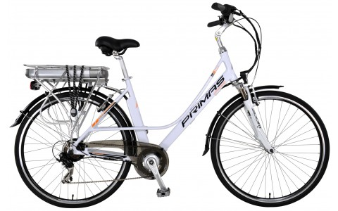 Bicicleta de oras electrica, Dama, DHS, Primas, Marime Cadru 510 mm, 28 inch