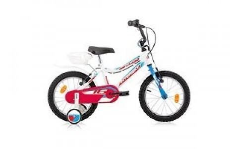 Bicicleta Copii, Robike, Robix, Roti 16 inch, Alb-Albastru