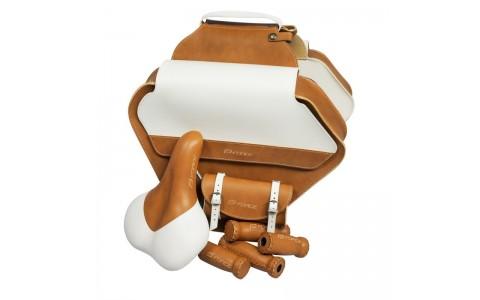 Set Bristol retro sa-geanta portbagaj-gripuri maro