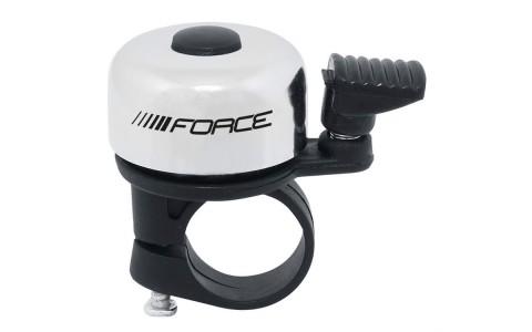 Sonerie Bicicleta, Force, Fier-Plastic, 22.2 mm, Alb