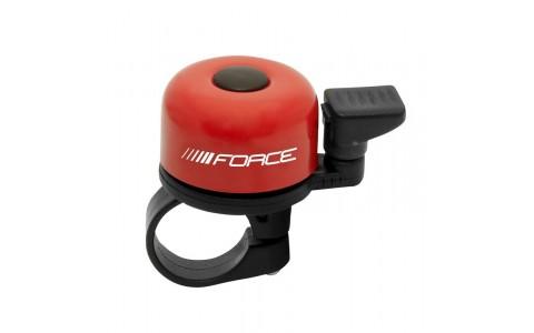 Sonerie Bicicleta, Force, Fier-Plastic, 22.2 mm, Rosu