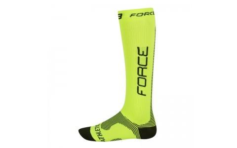 Sosete Force Athletic compression fluo/negru SM