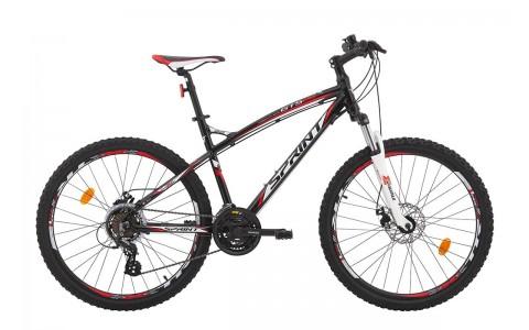 Bicicleta MTB Hardtail, Sprint, GTS 2.0, 21V, Negru-Alb-Rosu, 450 mm