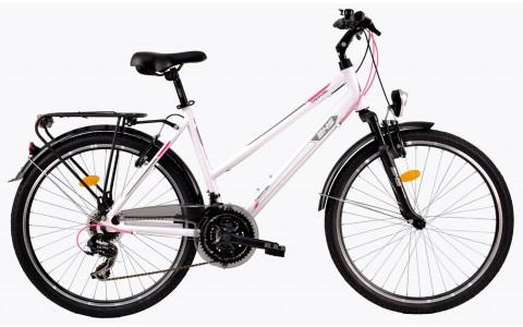 Bicicleta Trekking Pentru Femei, DHS, Travel 2656, Model 2017, 26 inch