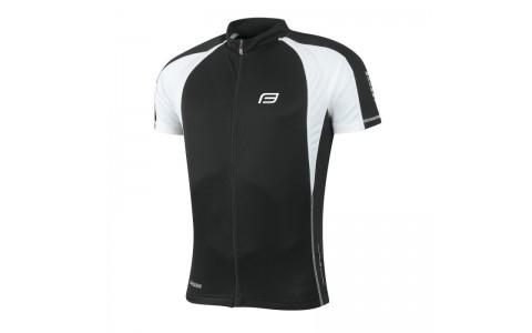 Tricou ciclism Force T10 negru/alb M