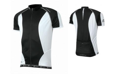 Tricou ciclism Force T12 negru/alb M