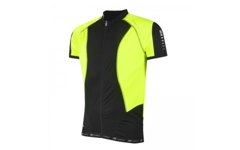 Tricou ciclism Force T12 negru/fluo L