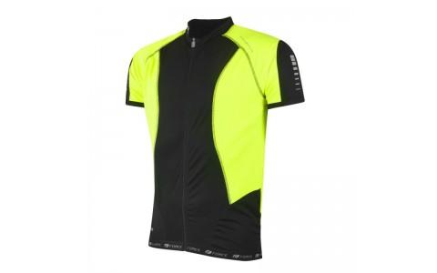 Tricou ciclism Force T12 negru/fluo XL