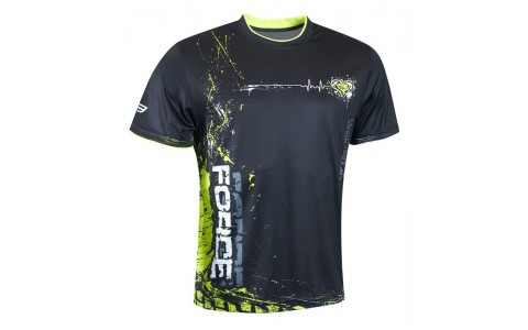 Tricou Force Art negru/fluo XS