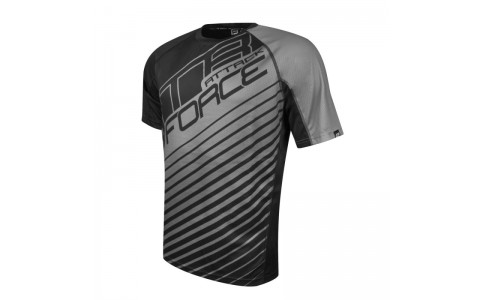 Tricou Force MTB Attack negru/gri XL