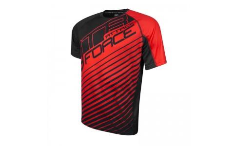 Tricou Force MTB Attack negru/rosu L