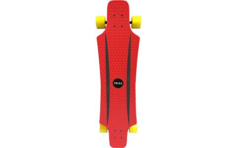 Longboard Axer, Trixx, 91x21x11cm, rosu