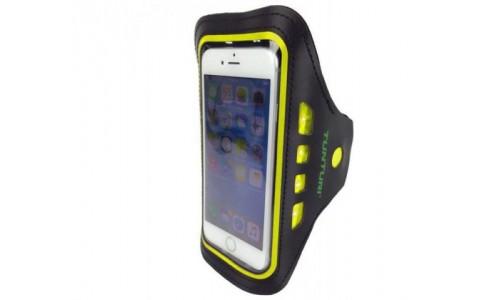 Suport Telefon Mobil cu LED, Tunturi, Cu Prindere Pe Brat, Galben