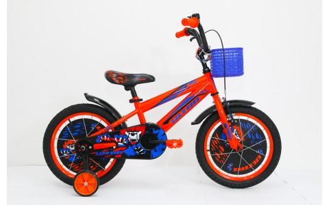Bicicleta copii Ultra Kidy, 16inch, portocaliu-albastru-negru
