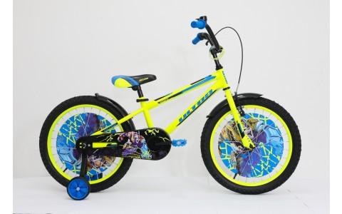 Bicicleta copii Ultra Kidy, 20, galben-albastru-negru