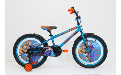 Bicicleta copii Ultra Kidy, 20, albastru-negru-portocaliu